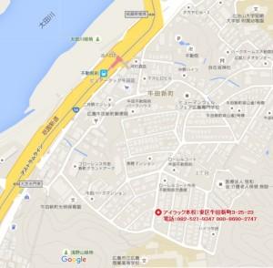 アイラック本校の地図